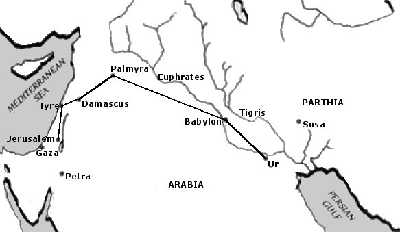 Possible Route of the Wise Men